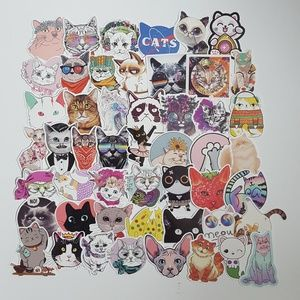 50 Cat Stickers
